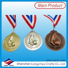 Zink-Legierung 3D-Fußball-Medaille Die Cast Gold Silber Bronzemedaille, Medaille mit Ihrem eigenen Logo (lzy00075)