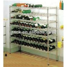 NSF ajustável Chrome metal Corner Wine Rack titulares