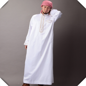 The Bleached White Woven Arabic Dress Fabric