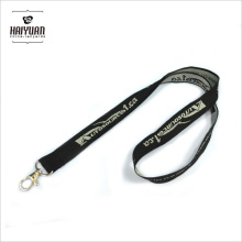 Custom Promotional Woven Polyester Neck Lanyard with Metal Clip
