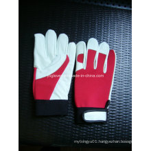 White Leather Glove-Cow Leather Glove-Work Glove-Safety Glove-Protected Glove