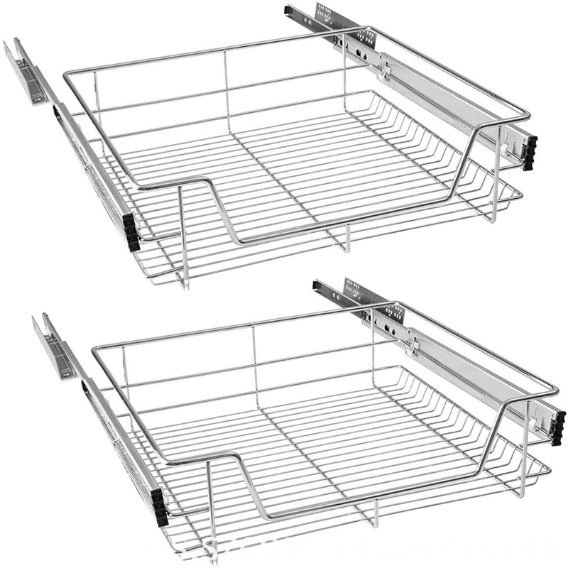 Chrome-plated Soft Closing Pull-out Cupboard Basket
