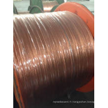 Fil en aluminium plaqué en cuivre plaqué / fil CCA