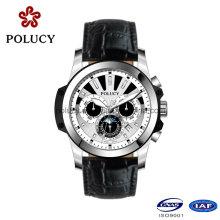 Китай производители OEM Хронограф Мужские Кожаный Часы