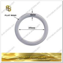 "1 3/8 ""metal anillo de bolsa plana para bolsas de cuero"