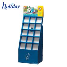 Présentoir pliable de poche de plancher de puits-vente pour la promotion, étagères pliables de vente au détail faites sur commande de carton