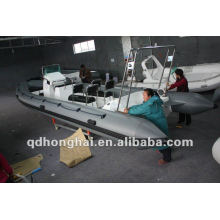 Top rib680 hypalon or pvc inflatable boat