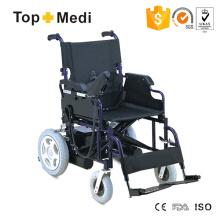 PU-Armlehnenbetriebener Stahlrahmen-Rollstuhl im großen Angebot
