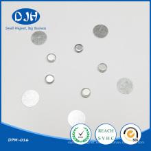 Imán flexible sinterizado redondeado de NdFeB para el embalaje (DPM-016)