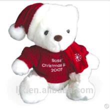 Maßgeschneiderte Plüschtiere benutzerdefinierte gefüllte Tiere Weihnachten Teddybär