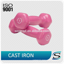 game dumbbells with vinyl coating