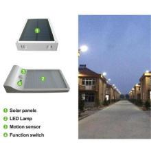 Luz de pared de calle de energía solar Luz de sensor de movimiento de PIR