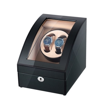 Black Finish Carbon Fiber Watch Winder Dengan Storages