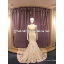 Wedding dress 2017 new spring and summer Korean bride Slim waist fish tail wedding small trailer LJ-10019