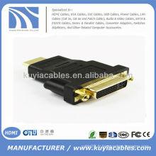 Convertisseur d'adaptateur HDMI à DVI plaqué or
