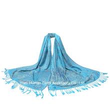 Ladies′ Fashion Jacquard Shawl Scarf with Tassels