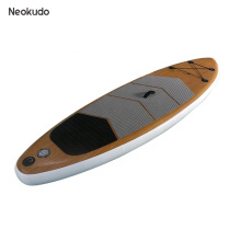 Top selling Wooden design inflatable sup paddle board for water sports