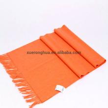 mezclar el 65% de lana de cordero medio liso naranja bufanda