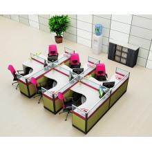 Estação de trabalho de partição de escritório por atacado para estação de trabalho do pessoal de escritório de 6 lugares (HF-YZQ516)