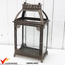 Vintage Style French Distressed Metal Lantern