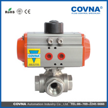 Pneumatic Actuator | Ball Valve | Double Action Pneumatic Actuator Ball Valve(3 way)