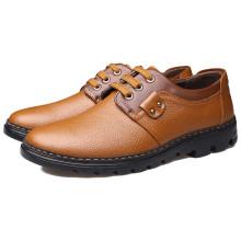 SD00075 Chaussure en cuir véritable pour homme avec semelle en cuir