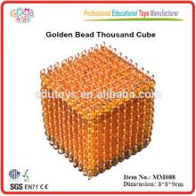 montessori material toys Golden Bead Thousand Cube