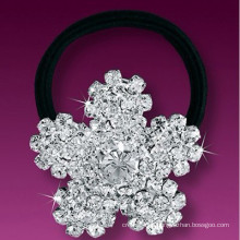 Moda metal banhado a prata cristal snowflake cabelo banda
