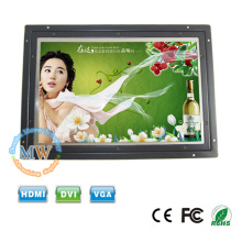 1280 x 800 haute résolution open frame LCD moniteur 10 pouces avec entrée de c.c 12v