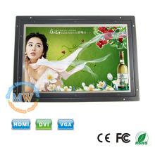 1280x800 em alta resolução frame aberto LCD monitor 10 polegadas com entrada de c.c. 12v
