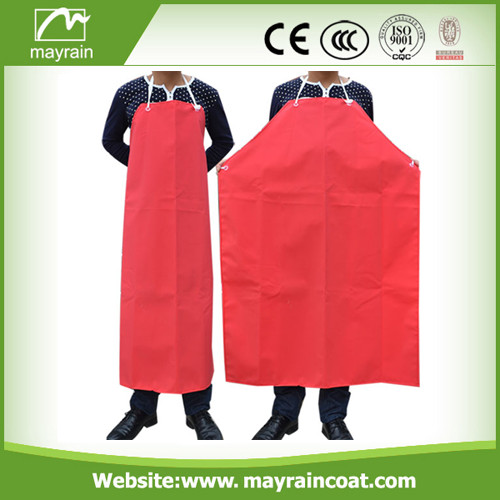 Red PVC Fabric Adult Apron