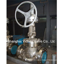 Worm Geared Gate Valve with Bypass Valve