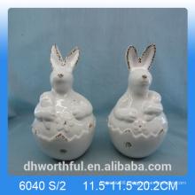 Easter decoration lovely ceramic rabbit figurine