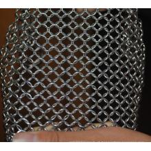 Aço inoxidável purificador de aço chainmail limpador de ferro fundido de grau alimentício