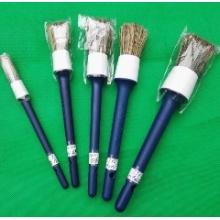 Круглые кисти для рисования с пластиковой ручкой