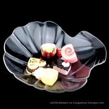 PP / PS Discos de plástico Desechable plato Cowry en forma de plato