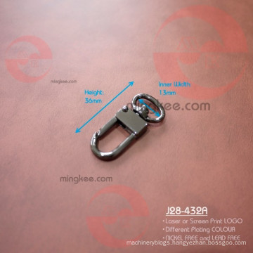 Little Small Black Metal Nickel Free Snap Dog Leash Hook