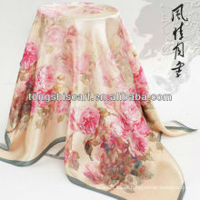 SC359-004 impressão digital design personalizado lenço de seda