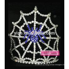 Lindo safira blue spider halloween festa concurso tiara