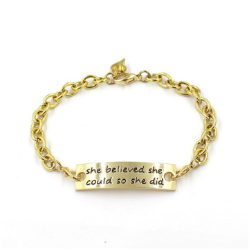 Gift 14k Gold Plated Custom Bracelet Fashion Jewelry