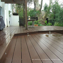 высокая прочность экологически чистые древесно-композитный открытый сплошной палубы пола
