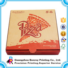 Impresión llena blanca de la caja de papel de empaquetado de la pizza de encargo de Alibaba de la calidad superior