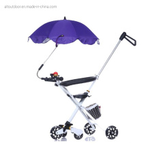 Unique Design Silver Coating Hands Free Universal Clip Clamp Baby Stroller Umbrella for Baby Car