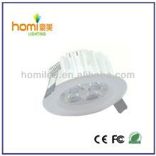 3W luz branca impressão downlight teto
