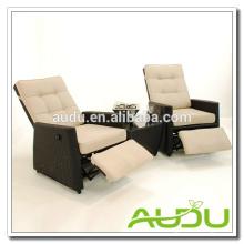 Audu Silla reclinable, jardín exterior Silla reclinable de ratán con reposapiés