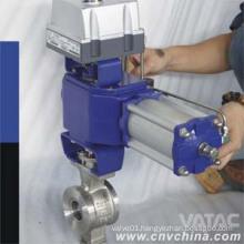 Vatac Stainless Steel V Port Pneumatic Ball Valve