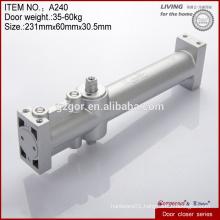Multifunctional round zinc alloy hidden door closers hardware