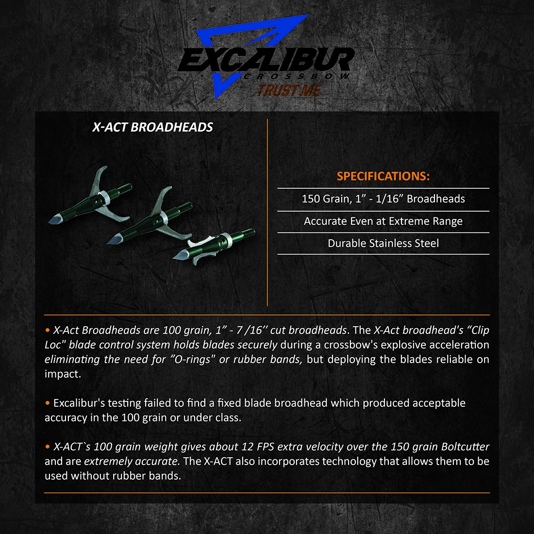 Excalibur_X-Act_Broadheads_Product_Description
