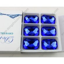 Dz-3008 Octagon Capri Blau 10X14mm Crystal Nähen auf Strasssteinen