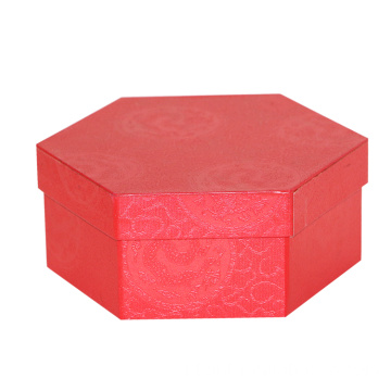 Grosir Unik Bentuk Red Gift Packaging Paper Box